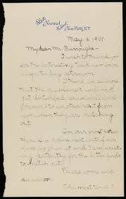 Letter to John Burroughs from Sadie Lowe, a Student Thanking Him for a  Nature Walk, May 16, 1901 - Lowe, Sadie — Google Arts & Culture