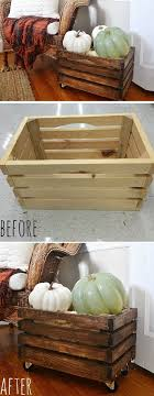 rustic rolling crate via lizmarieblog rustic rolling crate pic for 23 diy fall front porch decorating ideas diy