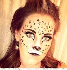 cheetah leopard print face paint make up