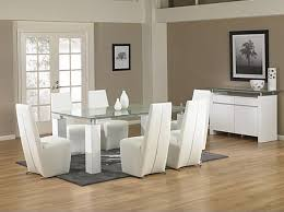 modern glass dining table.  Dining Magnificent Modern Glass Dining Room Sets And Plain  Luxurious Italian Furniture In Table