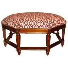 A Stunning Large Octagon Shaped Ottoman For Sale