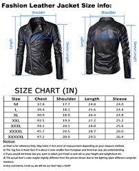Leather Jacket Size Chart Bomber Leather Jacket Size Chart Mens Leather Jacket