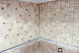 How To Grout Tile Backsplash Classy How To Install A Peel Stick Mosaic Tile Kitchen Backsplash