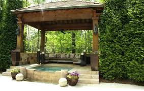 Full Size of Pergola:wonderful Spa Gazebo Hot Tub Gazebo With Built In  Outdoor Bar ...