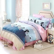 100 cotton sheets queen. Beautiful 100 Cotton Sheets Queen Linens Cute Cats Duvet Cover Set 100  With