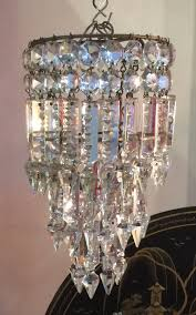 cut glass lead crystal 3 tier pendant chandelier