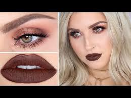 brown lipstick makeup tutorial warm brown sultry smokey eye
