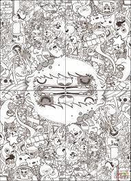 Disegno Di Copri Copertina Doodle Da Colorare Disegni Da Colorare