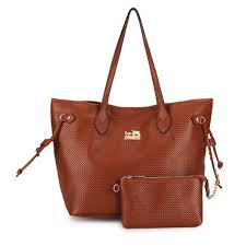 Coach City Knitted Medium Brown Totes DZL