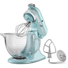 Kitchen Aid Ice Blue Kitchenaid Artisan Designer 5 Qt Azure Blue Stand Mixer