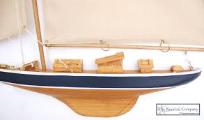 wall mounted half hull sailing boat