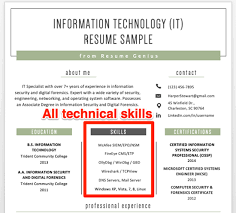 Denote Some To Modern Experience With Technology On Resume How To Write A Great Resume The Complete Guide Resume Genius