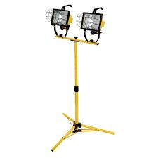 Hdx Dual Work Light Woods 1000 Watt Halogen Telescoping Twin Head Tripod Work Light