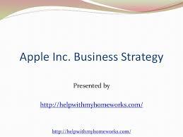apple inc business strategies