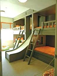 O Boys Loft Bed With Slide Kids Bunk Awesome Outdoor Room Creative A Fun  Regard To Child