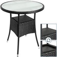 Deuba Polyrattan Tisch Rund ø 60cm Schwarz Be Real