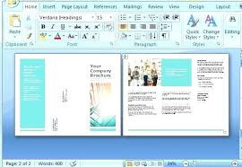How To Make A Trifold Brochure In Word 2007 Brochure Template Word 2007 Templates In Brochures Fold Free For