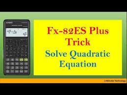 solving quadratic equation on casio fx