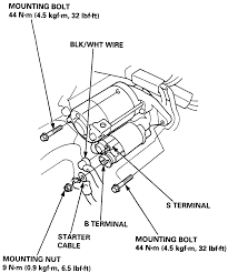 Infiniti i30 0l mfi dohc 6cyl repair guides starting view of the starter motor assembly
