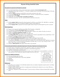 7 Resume Certification Section Biodate Format