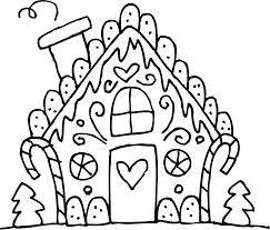 Small Picture Christmas Coloring Pages Gingerbread House Kids Coloring
