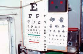 Eye Chart Machine Community Eye Health Journal Test Distance Vision Using A