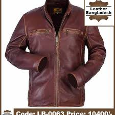 formal look color smart pure leather jacket
