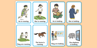 Verb Action Verb Action Flash Cards Present Tense Verb Action Flashcards