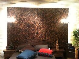 mosaic bedroom furniture. Reclaimed Wood Mosaic Wall - Fantesea Contemporary-bedroom Bedroom Furniture E