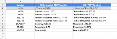 how to bine text and numbers in