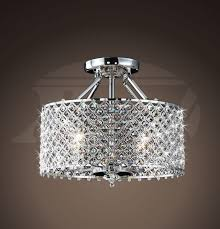 helina chrome and crystal 4 light round ceiling flush mount within flush mount crystal chandelier