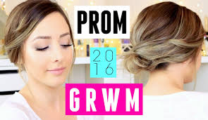 prom 2016 get ready with me easy makeup hair dress ideas you
