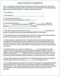 Printable Commercial Lease Agreement Template Apartment Sublease ...