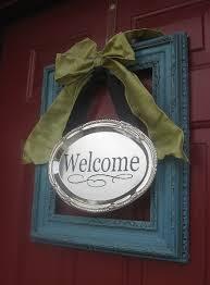 front door hangingsFront Door Decor  Spring Wreath Alternatives