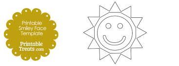 Sun Template Printable Smiley Face Sun Template Printable Treats Com