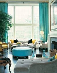 Turquoise Living Room Curtains For Turquoise Walls Round Glass Table Top Brown Faux