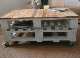 diy shabby chic pallet coffee table