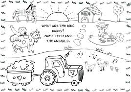 Free Coloring Pages Farm Equipment Life Animal Page Amusing Pag