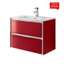 bathroom cabinet color glossy dark red