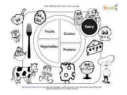 Small Picture Color My Plate Dairy Coloring Page Nutrition Worksheets and