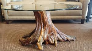 decor of stump coffee table with unique tree stump coffee table designs