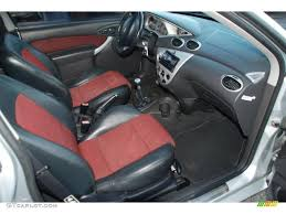 2002 Ford Focus SVT Coupe Black/Red Dashboard Photo #41955432 ...
