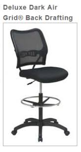 office star chairs. Deluxe Dark Air Grid® Back Drafting Chair With Black Mesh Seating Office Star Chairs