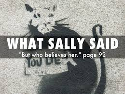 what sally said portrays a girl that esperanza goes to school   what sally said portrays a girl that esperanza goes to school in an abusive relationship her father she tries to hide the abuse but does not