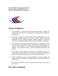 Credit Risk Management Of Dutch Bangla Bank Limited By Lawjuris