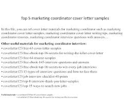 Marketing Coordinator Resume Samples Academic Coordinator Resume ...