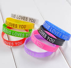Jesus Is The Light Wristbands Us 0 82 Jesus Loves You Mix Colors Silicone Bracelet Wristband Fashion Catholic Christian Religious Jewelry In Charm Bracelets From Jewelry