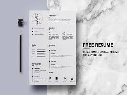 Free Minimalistic Resume Template Free Psd Template Psd Repo