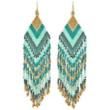 chandeliers green beaded chandelier earrings in tones graham and