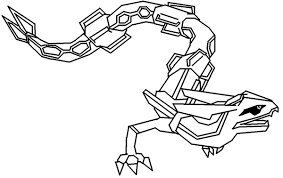 Small Picture Pokemon Coloring Pages pokemon coloring pages rayquaza Kids